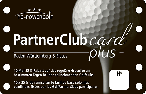Golf Partnerclub Card